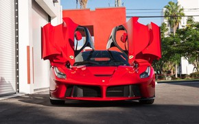 Picture Red, Supercar, LaFerrari, 2015, Doors