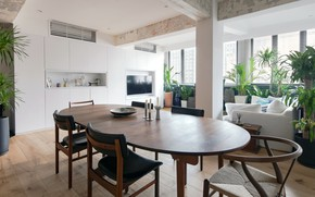 Picture interior, living room, dining room, Quarry Bay Residence, by Lim + Lu