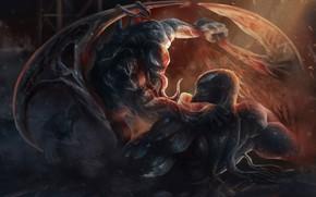 Picture weapons, fight, Venom, Venom, the symbiote