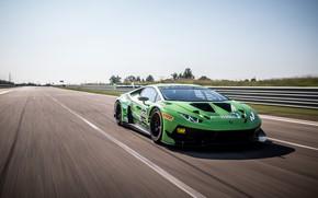 Picture speed, Lamborghini, racing car, GT3, 2018, EVO, Huracan