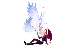 Picture romance, angel, the demon, art, Nanatsu no Taizai, Ban, Elaine