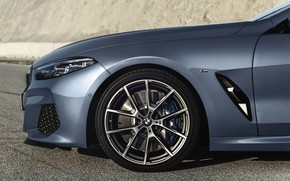 Picture coupe, wheel, BMW, Coupe, 2018, the front part, gray-blue, 8-Series, pale blue, M850i xDrive, Eight, …