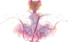 Picture tape, girl, staff, Card Captor Sakura, Sakura - collector cards