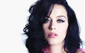 Picture eyes, hair, brunette, lips, singer, singer, Katy Perry, Katy PErry