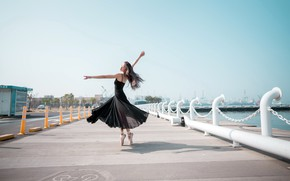 Picture girl, pose, dance