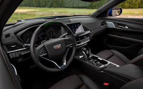 Picture Cadillac, sedan, four-door, in the cabin, 2020, CT4-V