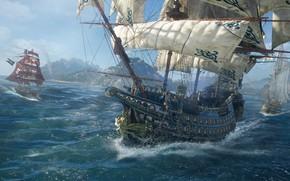 Picture sea, the game, ship, island, game, screenshot, Skull and bones, Skull & Bones