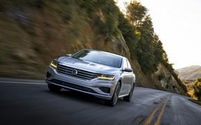 Picture asphalt, markup, Volkswagen, sedan, Passat, 2020, 2019, US Version