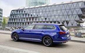 Picture blue, street, Volkswagen, universal, Passat, R-Line, Variant, 2019
