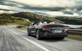 Picture BMW, the fence, back, convertible, xDrive, G14, 8-series, 2019, Eight, M850i Convertible