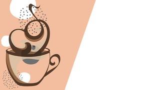 Picture coffee, minimalism, couples, mug, aroma
