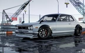 Picture Auto, Machine, Grey, Nissan, GT-R, 2000, Skyline, Nissan Skyline, Rendering, 2000 GT-R, Nissan Skyline 2000 ...