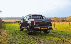 Picture black, back, pickup, Isuzu, 2020, Arctic Trucks, D-Max, UK version, AT35