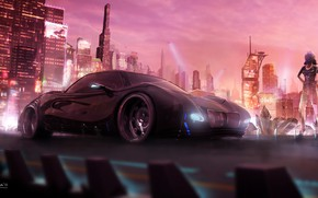 Picture City, Art, concept art, Cyberpunk 2077, Science Fiction, Cyberpunk, cd Projekt red, by Jimmy P. …
