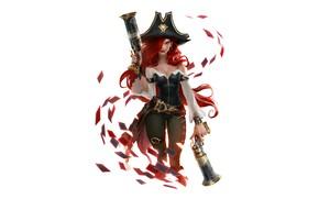 Picture girl, gun, hat, Miss Fortune, Legends of Runeterra