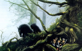 Picture Forest, The Sorcerer King, Hobbits, The Roots Of The Tree