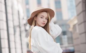 Picture Girl, hat, Sergey Yakubitskiy