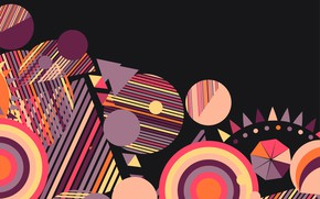 Picture circles, abstraction, vector, geometry, Geometric