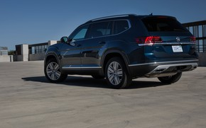 Picture the sky, Volkswagen, Parking, Atlas, dark blue, 2017