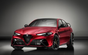 Picture grey, background, Alfa Romeo, Giulia, GTAm, 2020