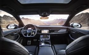 Picture mountains, Audi, TDI, salon, crossover, ABBOT, 2019, SQ8