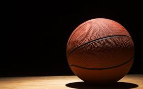 Picture basketball, floor, ball, shadows