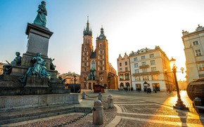 Picture area, monument, Cathedral, Krakow, Poland