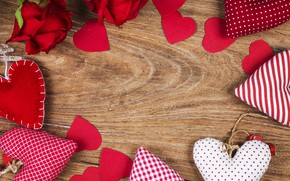 Picture love, flowers, heart, roses, hearts, red, love, wood, romantic, hearts, valentine's day, roses