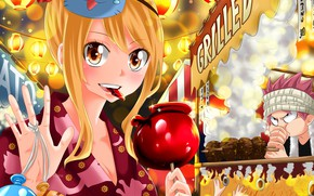 Picture mask, Fairy Tail, Lucy, Natsu Dragneel, Happy, Fairy tail