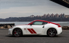 Picture strip, coupe, silhouette, Nissan, red-white, 370Z, 50th Anniversary Edition, 2020, 2019