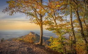 Picture autumn, nature, Hohenzollern Castle