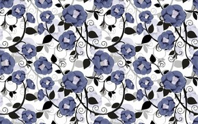 Picture flowers, background, background, pattern, floral
