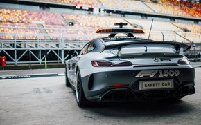 Picture Mercedes-Benz, rear view, Formula 1, AMG, Safety Car, GT R, 2019