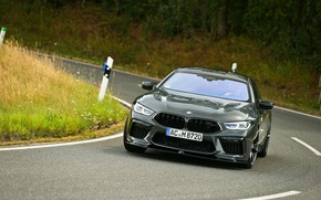Picture road, grass, coupe, turn, BMW, Gran Coupe, AC Schnitzer, 2020, BMW M8, M8, the four-door, …