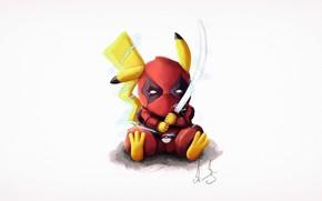 Picture Figure, Sword, Art, Art, Deadpool, Deadpool, Katana, Pikachu, Pikachu, Alexandr art Lavrov