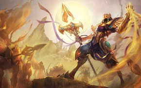 Picture Fantasy, Art, Sun, Sand, League of Legends, Illustration, LoL, Spear, Game Art, Azir, Henukim, by …