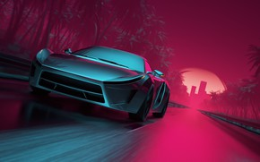 Wallpaper Road, Neon, Machine, Graphics, Art, Neon, Electronic, Synthpop, Darkwave, Synth, Retrowave, Synth-pop, Sinti, Synthwave, Synth ...