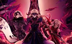 Picture girls, dark, the saber, Fate / Grand Order