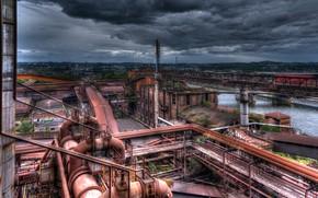 Picture landscape, plant, factory