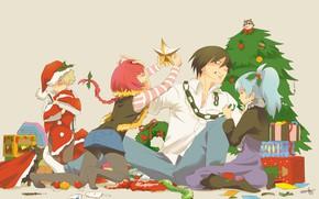 Picture children, Christmas, guy, Yin, Darker than Black, Darker than black, Hey
