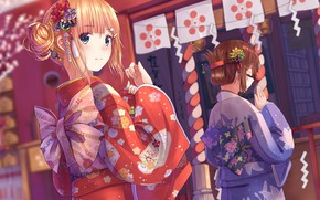 Picture holiday, Japan, yucata, girls.festival