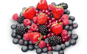 Picture berries, raspberry, blueberries, strawberry, BlackBerry