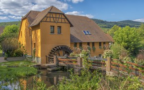 Picture nature, house, a water mill