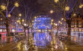 Picture night, lights, England, London, Christmas