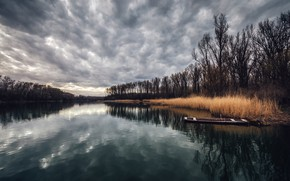 Picture nature, river, boats