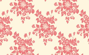 Picture flowers, texture, background, pattern, seamless