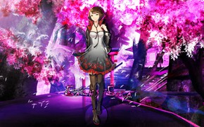 Picture road, girl, style, Park, Tower of God, Androssi Zahard