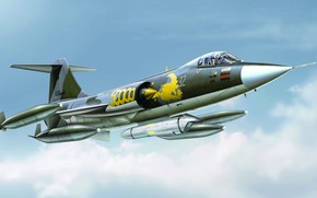 Picture Lockheed, fighter-bomber, Starfighter, F-104G, The German air force