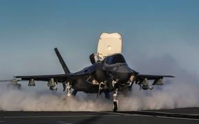 Picture Fighter, USAF, RAF, The carrier, F-35B Lightning II, GBU-12 Paveway II, Royal Navy, HMS Queen …