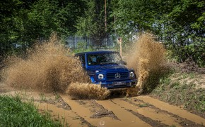 Picture squirt, blue, Mercedes-Benz, SUV, 4x4, G-Class, 2019